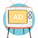 mass media, television ads, television advertising, tv advert, tv commercials icon