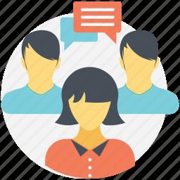 chatting, communication, conversation, discussion, talk icon