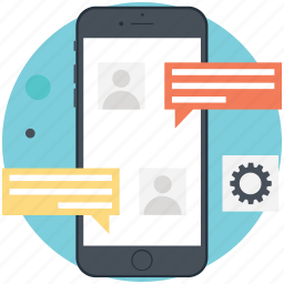 email marketing, mobile marketing, sms marketing, social media, text message marketing icon