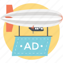 ad, advertisement, advertising, branding, marketing icon