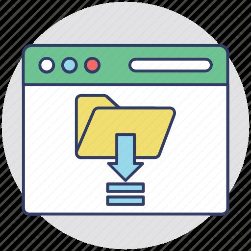data downloading, data transfer, data transmission, download, internet data icon