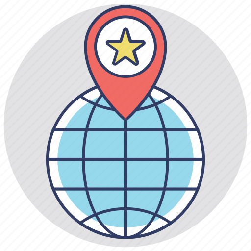 favorite location, favorite place, map location, navigational concept, star map pin icon