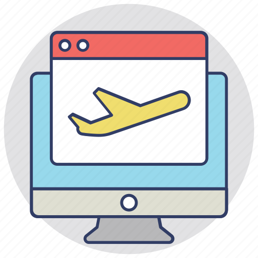 flight check in, search engine ranking check in, web check in, web traffic, website speed check icon