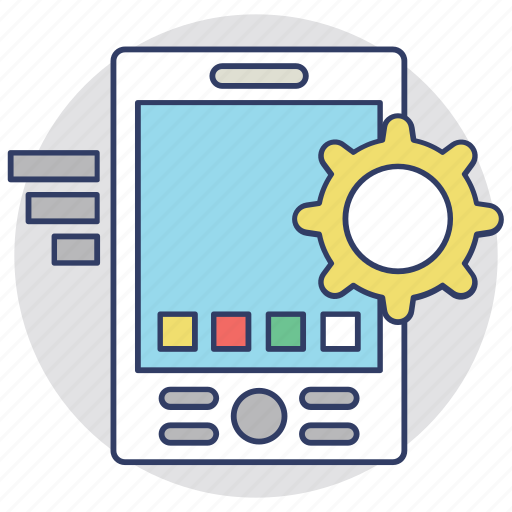 Cellphone organizer, mobile adjustment, mobile configure, mobile phone application development, mobile technical support icon - Download on Iconfinder