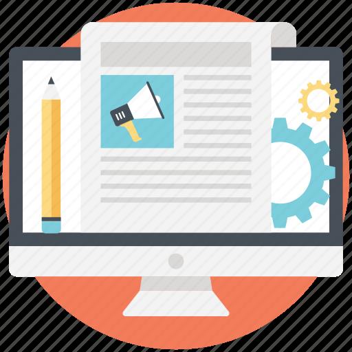 blog management, cms, marketing, optimization, seo icon