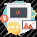content, communication, online marketing blog, information, online marketing icon