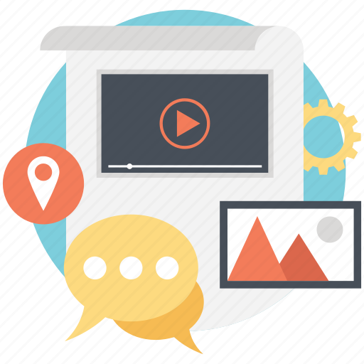 communication, content, information, online marketing, online marketing blog icon
