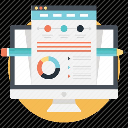 online presentation, powerpoint, web design, web presentation, website mockup icon