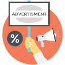 digital advertising, internet advertising, online marketing, online shopping, ppc icon