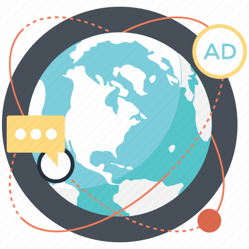 global advertising, international marketing, internet advertising, online marketing, worldwide advertisement icon