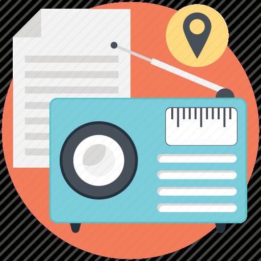 communication advertising, media marketing, on air advertising, radio ad, radio marketing icon