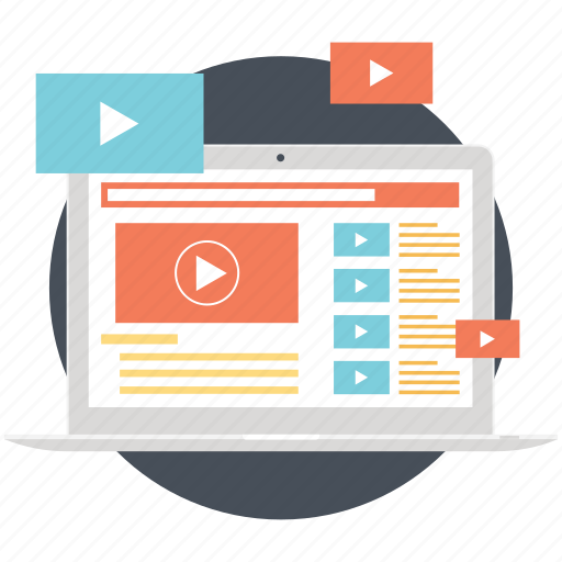 media technologies, online video, watch online, web streaming, webcast icon