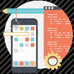 mobile app, mobile application, mobile interface, mobile menu, mobile ui icon