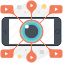 internet video sharing, video advertising, video marketing, video startup, viral video icon