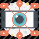 video advertising, internet video sharing, video marketing, viral video, video startup icon