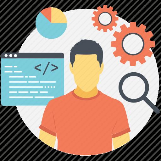 computer programmer, programmer, software developer, software engineer, web developer icon