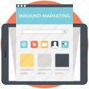 branding, content marketing, inbound marketing, modern marketing, online marketing icon