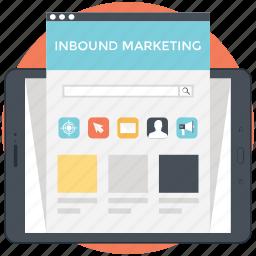 branding, content marketing, inbound marketing, modern marketing, online marketing icon