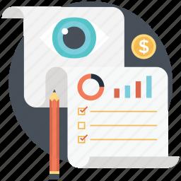 analyzing, fact-founding, kpi, management, performance analysis icon