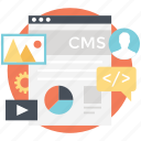 administration, cms, marketing strategy, optimization, web strategy icon