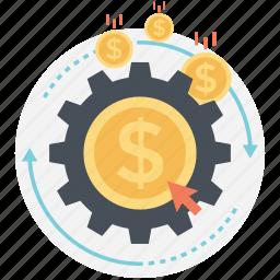 internet marketing, monetizing, online income, optimization, profiting icon