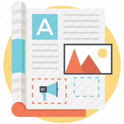 advertisement, article marketing, content marketing, imarketing, social network icon