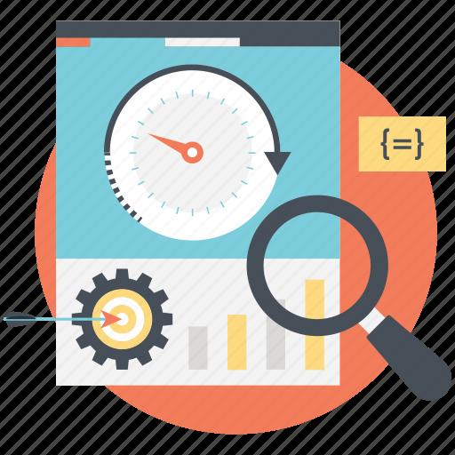 on-page seo, page speed optimization, seo process, web development icon