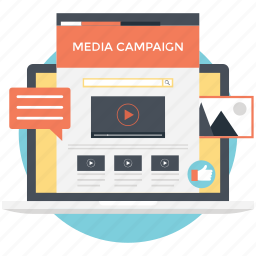 integrated marketing, media campaign, online marketing, social network, viral marketing icon