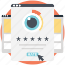 customer rating, evaluation, grading, ranking, review icon