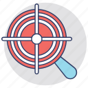 aim, focal point, focus, focusing, target icon