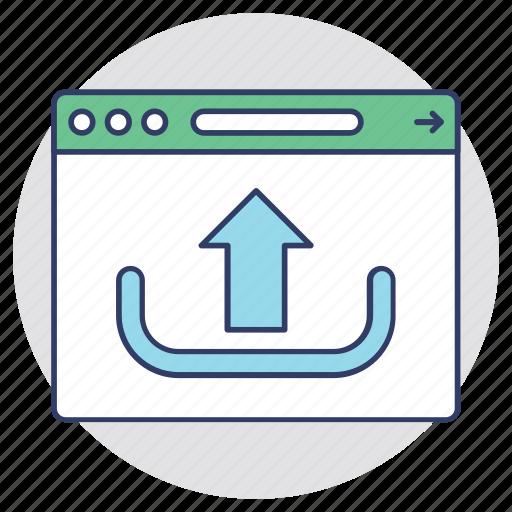 data transferring, internet media concept, website launch, website programming, website upload icon