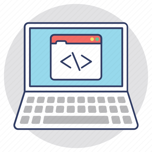 c language development, css development, custom coding, programming, web development icon