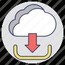 cloud computing, cloud data center, cloud downloading, cloud hosting, cloud services icon