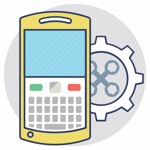 Cellphone organizer, mobile adjustment, mobile configuration, mobile phone application development, mobile technical support icon - Download on Iconfinder