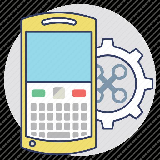 cellphone organizer, mobile adjustment, mobile configuration, mobile phone application development, mobile technical support icon