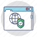 internet safety, online security, web protection, web safety, web shield icon