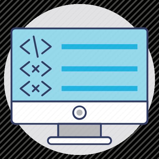 c language development, css development, programming, web coding, web development icon