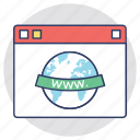 cyberspace, internet site, site, website, www icon
