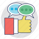 feedback, response, reviews, satisfaction, testimonials icon