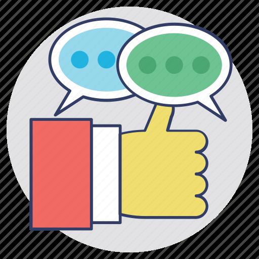 feedback, response, reviews, satisfaction, testimonials icon