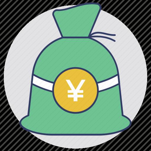 investment, money sack, moneybag, saving, wealth icon