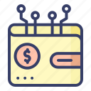 wallet, money, dollar, digital, currency
