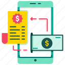 bill payment, billing, digital wallet, e-wallet, mobile banking, payment, smartphone icon