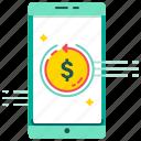 digital wallet, e-wallet, fast refund, mobile banking, refund, smartphone, tax refund icon