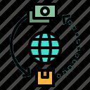 business, international, money, trade, worldwide icon