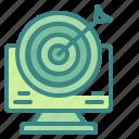 arrow, computer, dart, goal, target icon