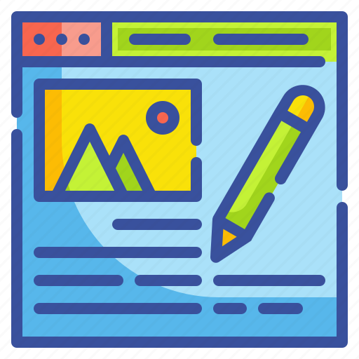 blogger, blogs, content, website, writer icon
