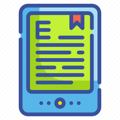 book, content, ebooks, read, tablet icon