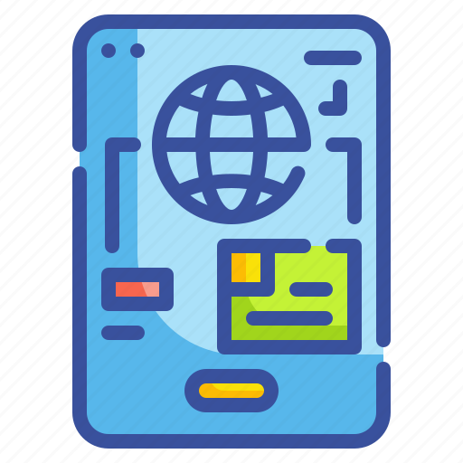 guides, location, map, phone, world icon