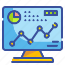 business, chart, computer, graph, infographic icon